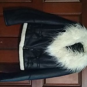 A.n.a. faux leather fur caller jacket
